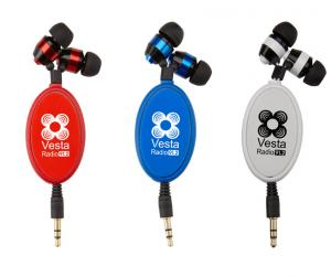 34 inch Metal Retractable Earbuds