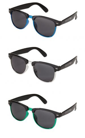 Metallic Accent Two Tone Sunglasses