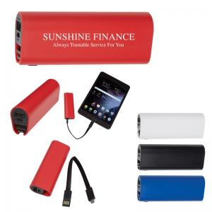 2200 mAh UL Listed Power Bank with Micro Charger