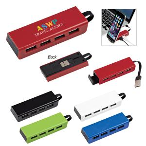 Traveler 4 Port USB Hub Phone Stand