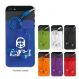 Spandex Phone Card Sleeve with Earbuds