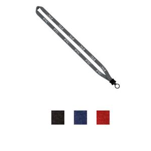 "1/2"" Heathered Lanyard with Plastic Clamshell O-Ring"