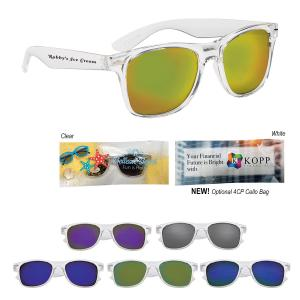 Crystal Mirrored Sunglasses
