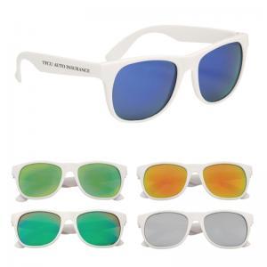 Rubberirzed Mirrored Sunglasses