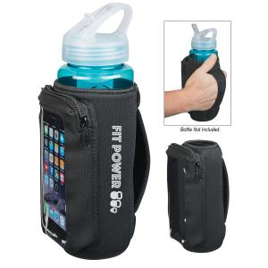 Neoprene Bottle Cooler with Phone Pouch