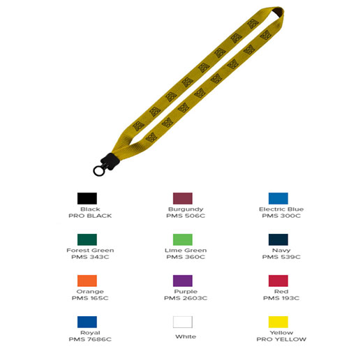 """1"""" Cotton Lanyard with Plastic Clamshell & O-Ring"""