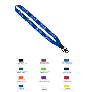 "1"" Cotton Lanyard with Plastic Snap-Buckle Release & O-Ring"