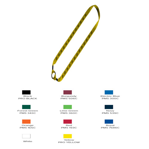 """1"""" Cotton Water Bottle Shoulder Strap With Expandable Rubber O-Ring"""