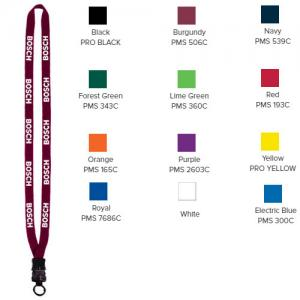 "1/2"" Cotton Lanyard with Plastic Snap-Buckle Release & O-Ring"