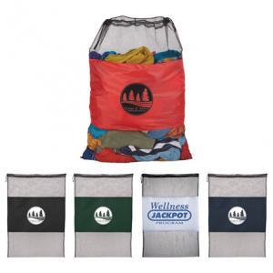 Large Laundry Mesh Cinch Bag
