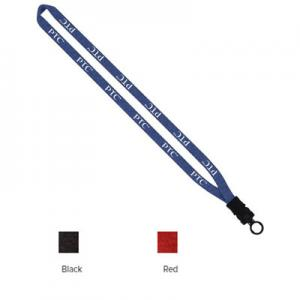 "1/2"" Heathered Lanyard with Plastic Snap-Buckle Release and O-Ring"