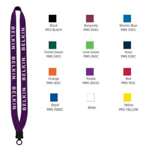 "3/4"" Cotton Lanyard with Plastic Clamshell & O-Ring"