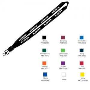 "3/4"" Cotton Lanyard with Plastic Snap-Buckle Release & O-Ring"