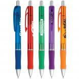 Translucent Rubber Grip Retractable Pen