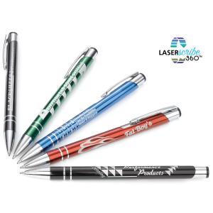 Clip Action Metallic Retractable Pen