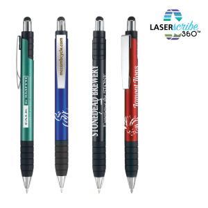Executive Steel Clip Retractable Stylus Pen
