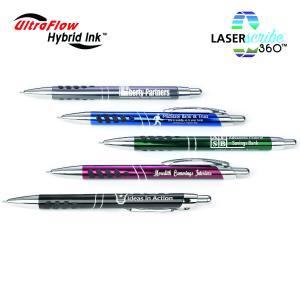 Rubber Grip Sharp Metal Retractable Pen