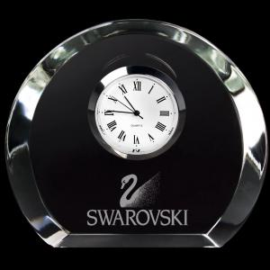 Stylish Mini Designer Smooth Round Crystal Clock