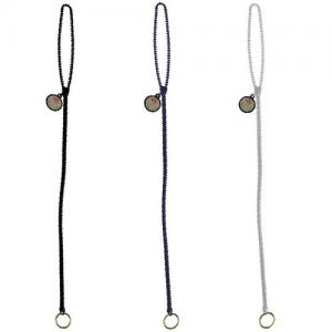 Zipper Cord Lanyard with Round Zipper Pull