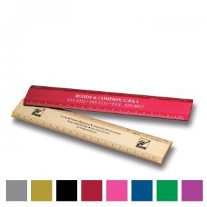 8 inch Alumicolor Aluminum Desk Ruler