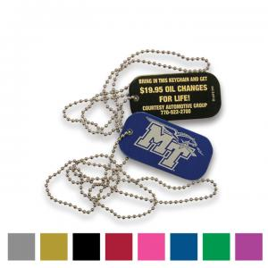 Alumicolor Dog Tag with 24 inch Ball Chain