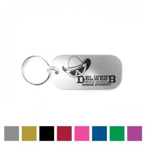 Alumicolor Dog Tag with Key Tag Ring
