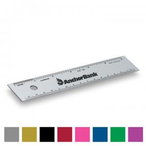 6 inch Alumicolor Straight Edge Ruler with Center Finding Back