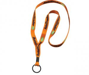 "1/2"" Dye-Sublimated Lanyard with Metal Crimp and Metal Split-Ring"