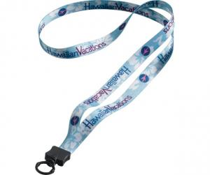 "1/2""Dye-Sublimated Lanyard with Plastic Clamshell & Plastic O-Ring"