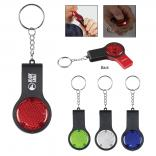 Powerful Light Key Chain With Safety Whistle