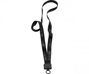 "3/4"" Dye Sublimated Waffle Weave Lanyard with Plastic Clamshell and O-ring"