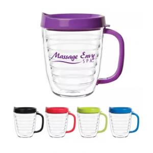 12 oz. Clear Ruled Coffee Mug
