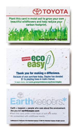3.5 x 2 Eco Friendly Seed Paper Business Card
