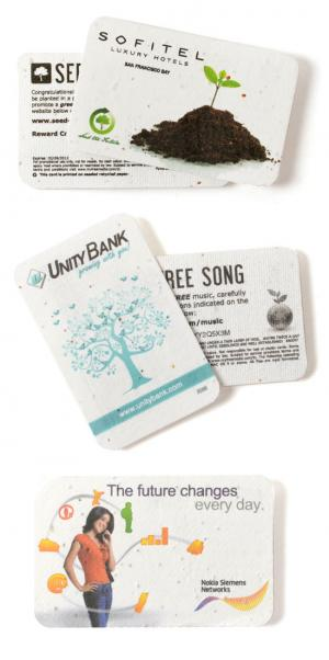 2 x 3 Eco Friendly Seed Paper Credit Card