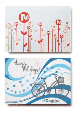 4 x 6 Eco Friendly Medium Seed Paper Greeting Card