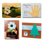4 x 5 Eco Friendly Seed Paper Shaped Greeting Card