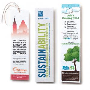 2 x 7 Eco Friendly Plantable Seed Paper Bookmark
