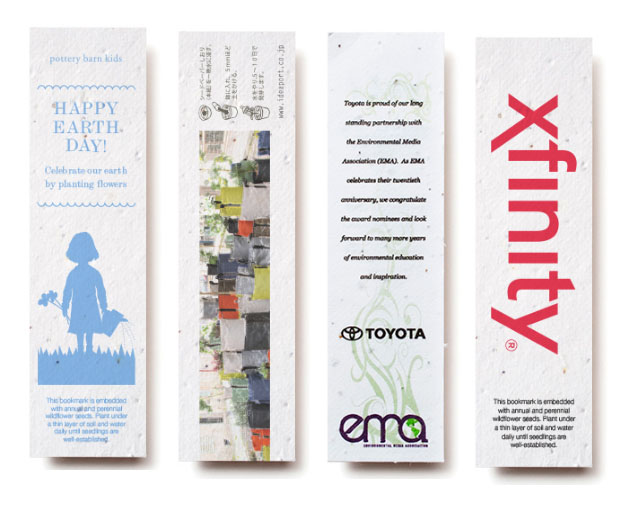 1 x 5 Eco Friendly Small Plantable Seed Paper Bookmark