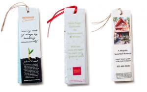 2 x 7 Eco Friendly Vellum and Plantable Seed Paper Bookmark