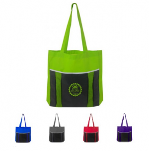 Vibrant Poly Accent Mesh Tote