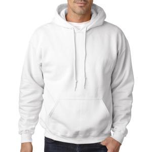 White Gildan Heavy Blend Hooded Sweatshirt