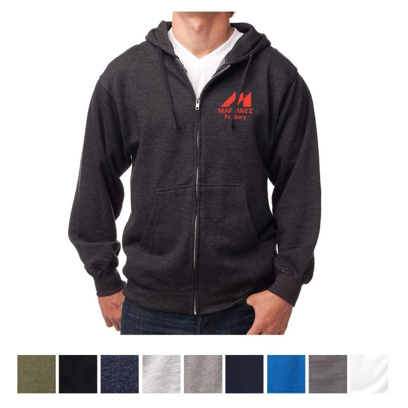 Independent Trading Company Men's Midweight Zip Hooded Sweatshirt