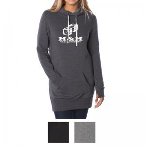 Independent Trading Company Juniors Midweight Special Blend Hooded Pullover Dress