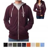 Independent Trading Company Unisex Heather French Terry Zip Hooded Sweatshirt