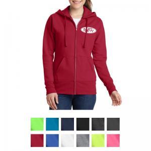 Port & Company Ladies Core Fleece Full-Zip Hooded Sweatshirt