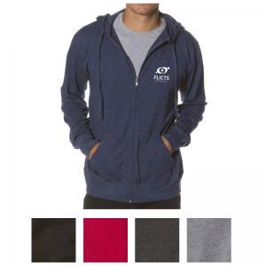 Independent Trading Company Men's Lightweight Jersey Zip Hood