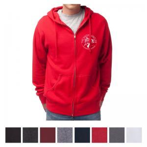 Independent Trading Company Men's Lightweight Zip Hooded Sweatshirt