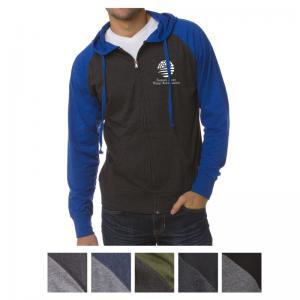 Independent Trading Company Men's Lightweight Jersey Raglan Zip Hood