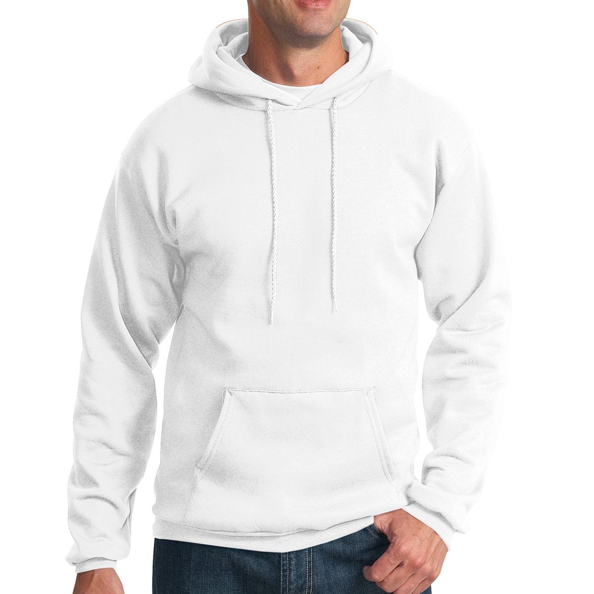 White Port & Company Essential Fleece Pullover Hooded Sweatshirt