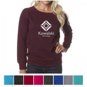 Independent Trading Company Juniors' Lightweight Crew Neck Sweatshirt